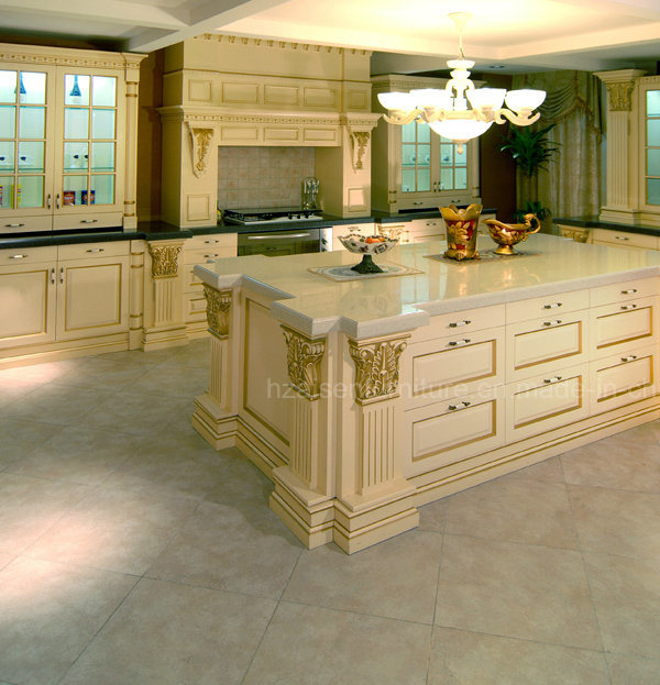 Kitchen Furniture Rehab American Style Solid Wood Luxury Kitchen Cabinet