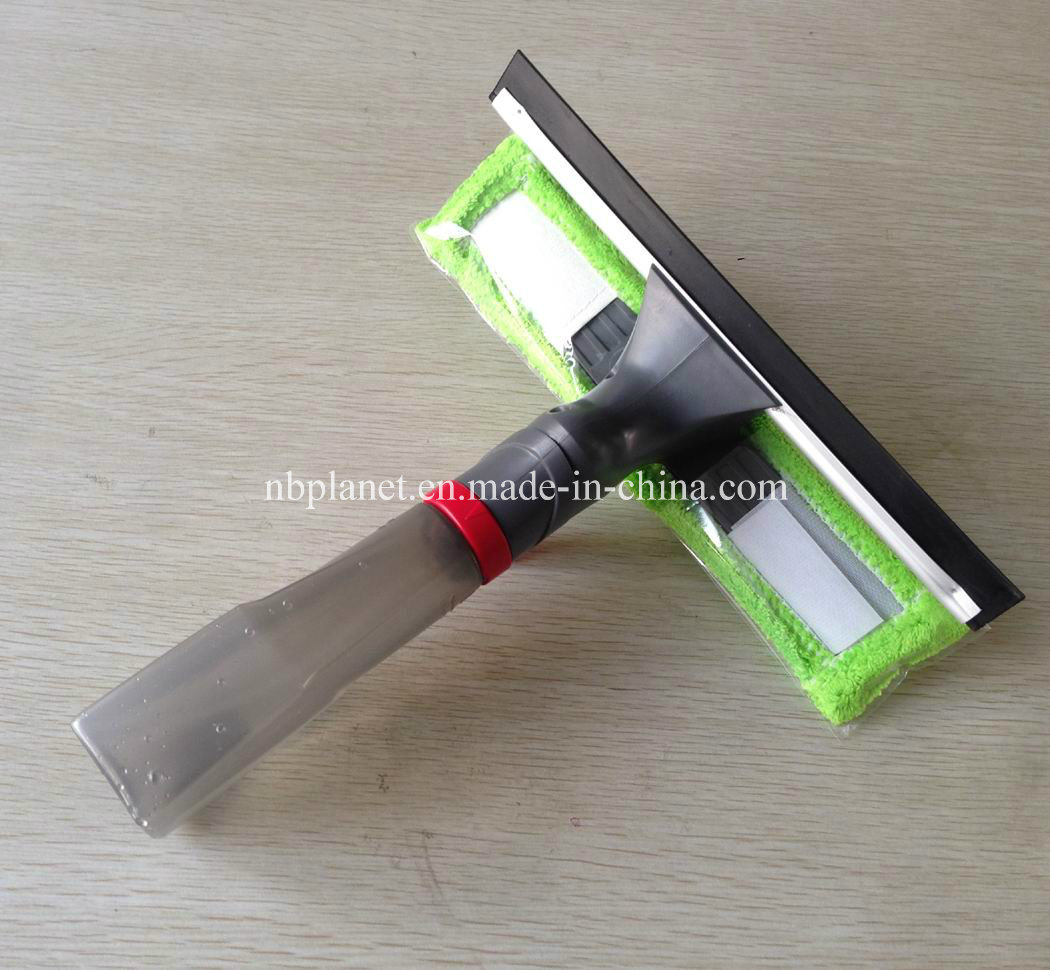 Spray Window Wiper with Squeegee & Spray Bottle