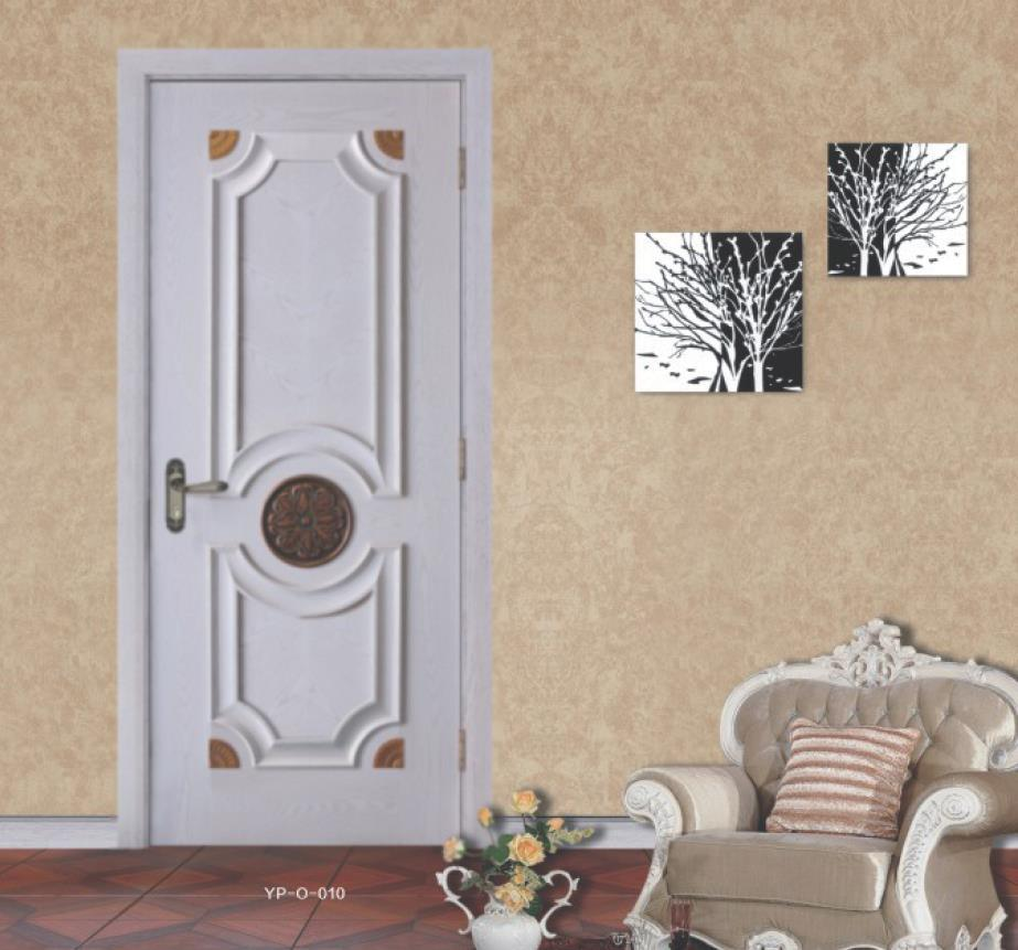 Solid Wood Interior Door Bedromm Luxury White Color Door