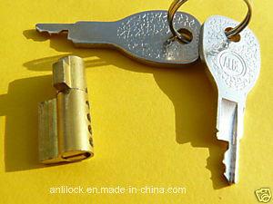 Brass Cylinder Lock, Trailer Lock, Small Collectors Lock Al-1104