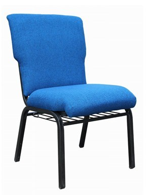 "21"" Wide Metal Church Chair"