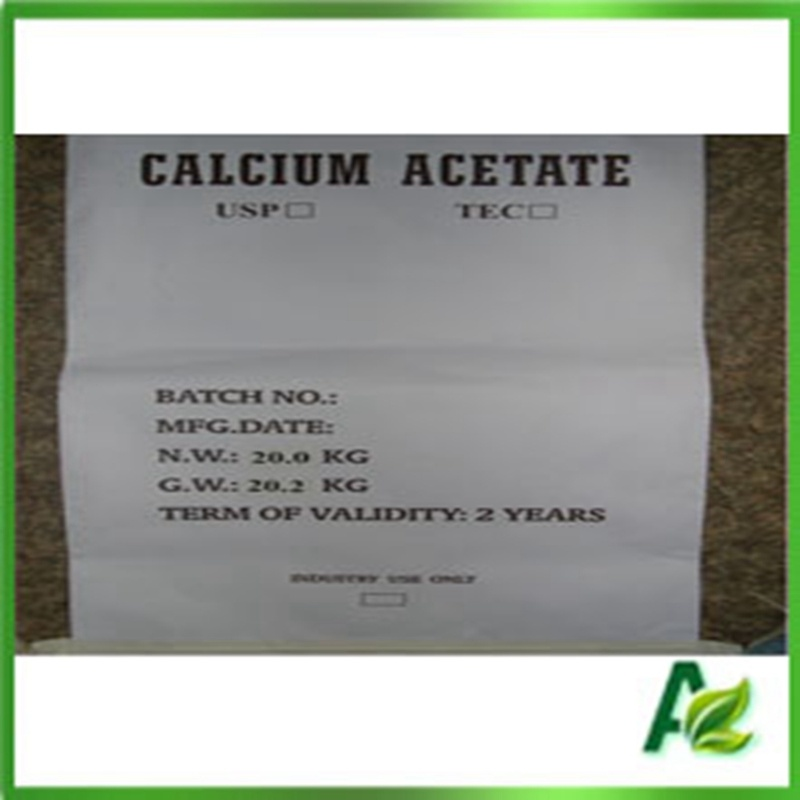 Food Additives Anhydrous Calcium Acetate Price for Preservatives CAS 62-54-4
