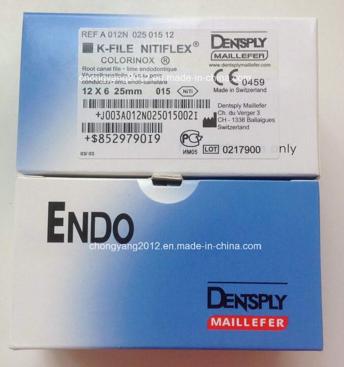 Dentsply Maillefer Root Canal Rotary K-Files Niti Flexible