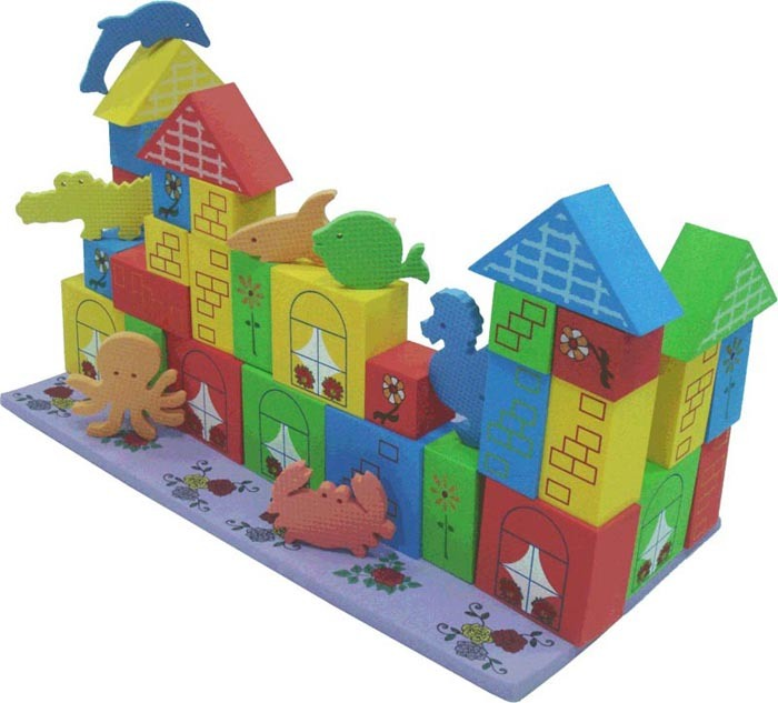 Styrofoam building blocks for Foam block house construction