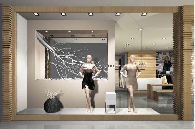 China display shelf garment rack store display supplier for Pop window design