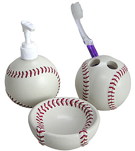 Baseball bathroom on pinterest baseball bathroom decor for A bathroom i can play baseball in
