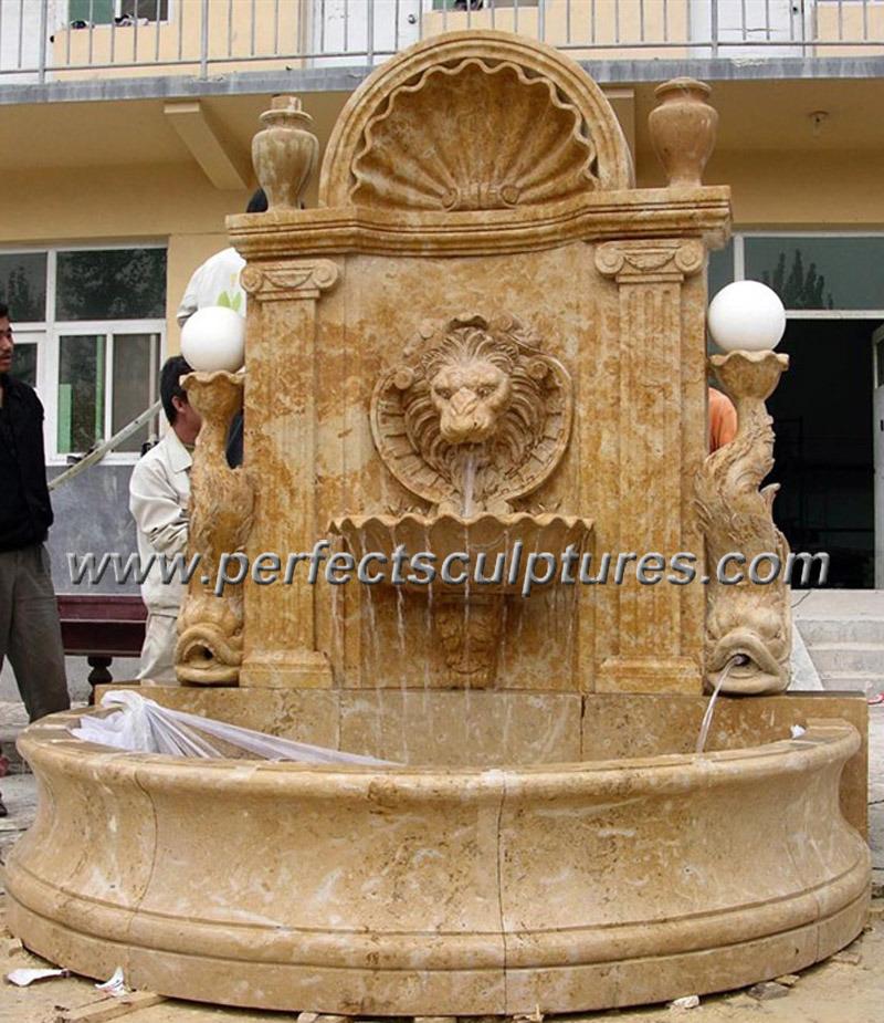 Marble de piedra wall fountain para el jard n ornament sy for Diseno de fuente de jardin al aire libre