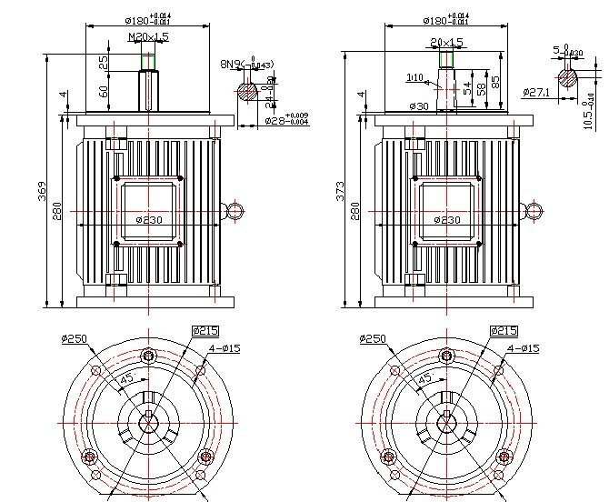 300W-10kw Low Speed 50rpm Vertical Wind Generator/ Permanent Magnet Generator