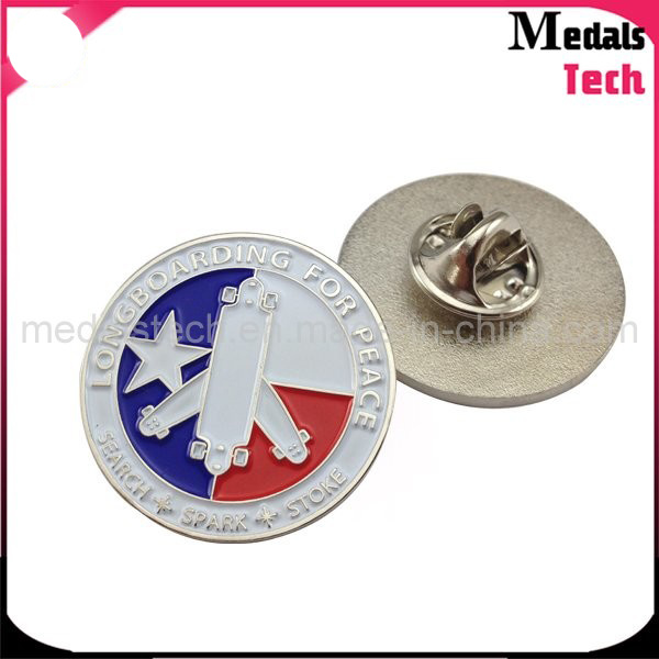Custom Shape Cheap Die Struck Iron Metal Dance Lapel Pins/Badges