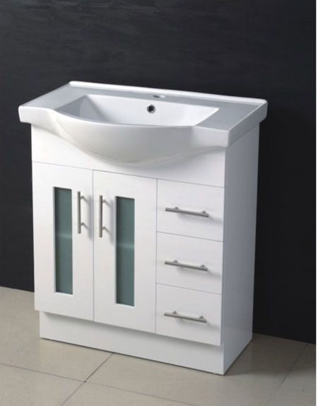 750mm Glass Door Mdf Bathroom Cabinet Vanity Mg750
