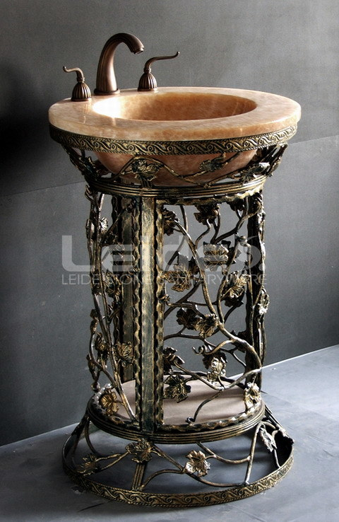 Stone Pedestal Sink : China Art Stone Pedestal Sink (LD-G010) Photos & Pictures - Made-in ...