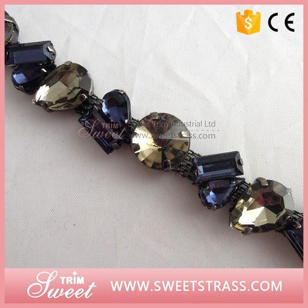 Sparkle Fancy Crystal Rhinestone Chain for Sandals