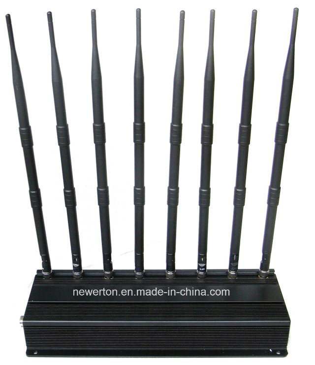 Desktop Jammer for 2g+3G+4G Cellular+GPS+2.4G WiFi+Lojack+VHF+UHF Whole Bands Signal Jammer Blocker