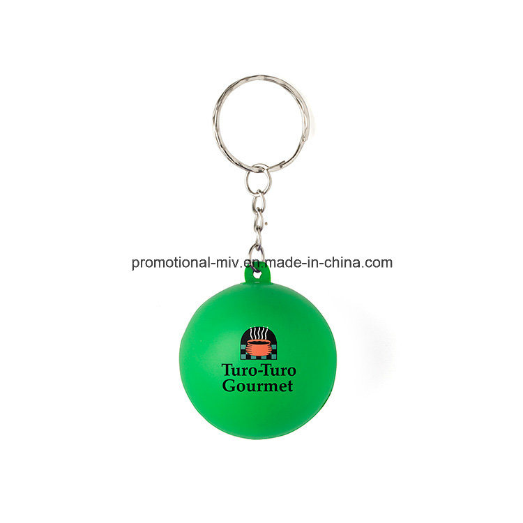 Promotional Stress Ball Keychains Gumball Keyrings