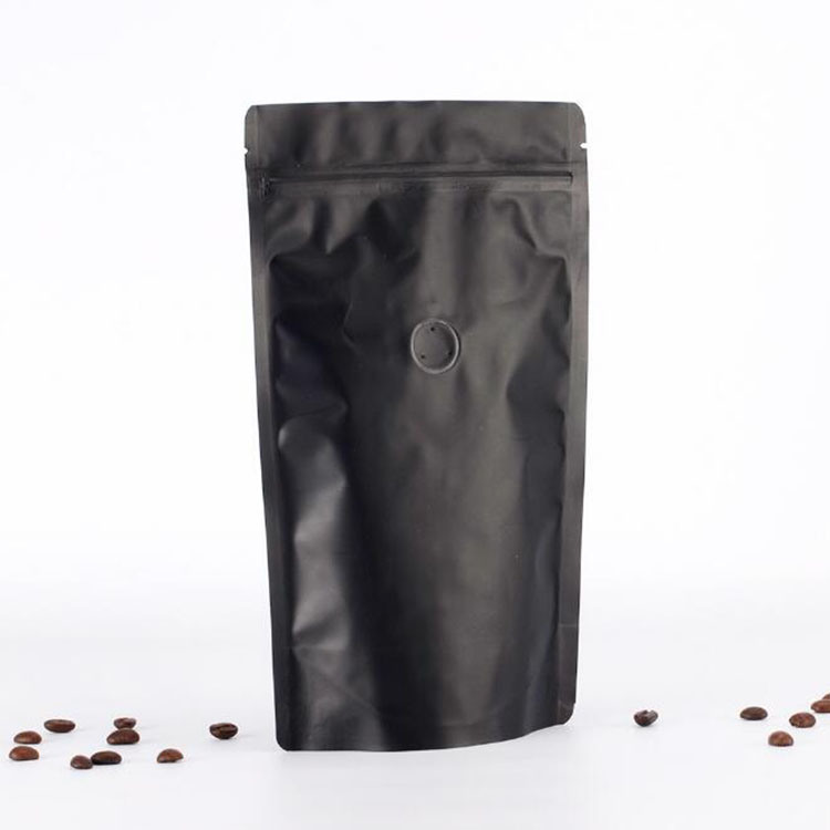 Printed Food Grade Stand up Plastic Coffee Bag with Zipper