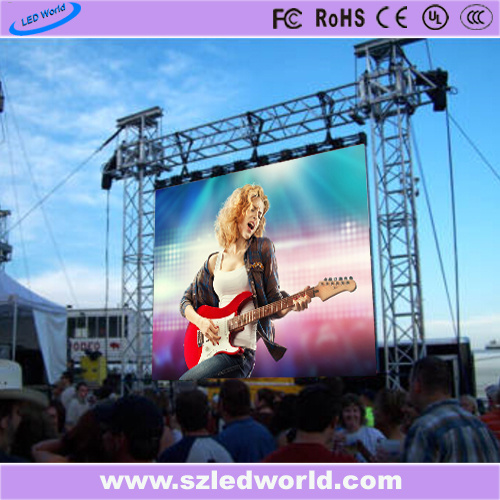 Outdoor/Indoor Die-Casting Full Color Rental LED Sign Screen Display Panel Board for Advertising (P5, P8, P10, 640X640 cabinet)