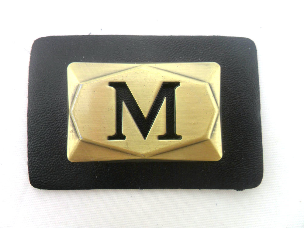 Custom Metal Leather Badges Patches