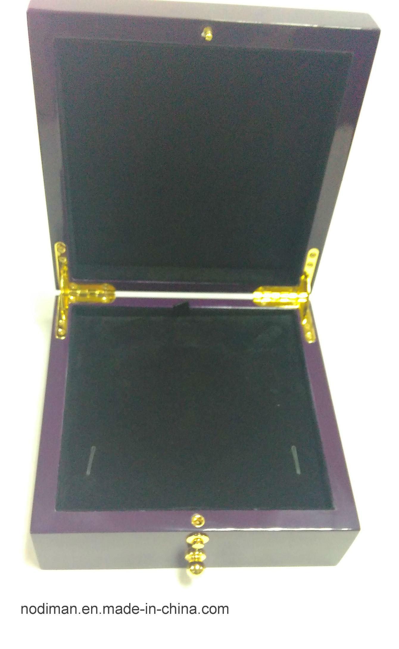 Violet Elegant High Glossy Jewelry Set Wooden Box