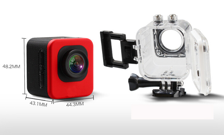 Newest 2 Inch Screen 170 Degree Underwater Sports Camera WiFi 1080P Mini Action Camera