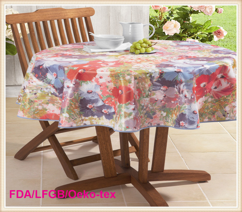 PVC Round Tablecloth Party Decor.