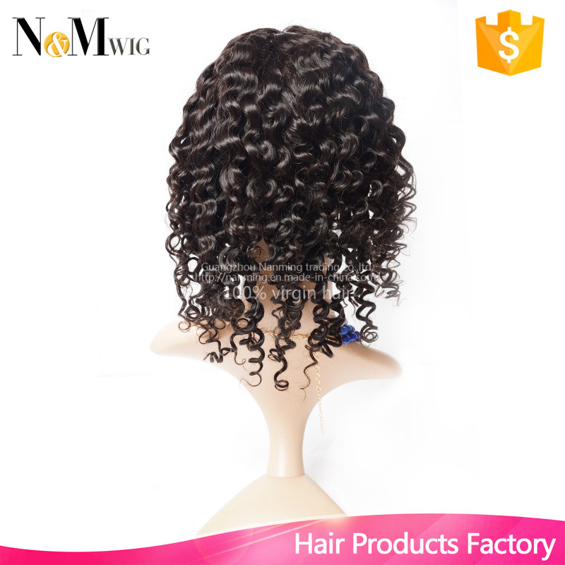 130% Density Virgin Brazilian Hair Lace Front Wig / Short Glueless Full Lace Human Hair Deep Wave Curly Wigs for Black Women