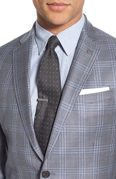 OEM Latest Design Men′s Trim Fit Business Checked Blazer Suit