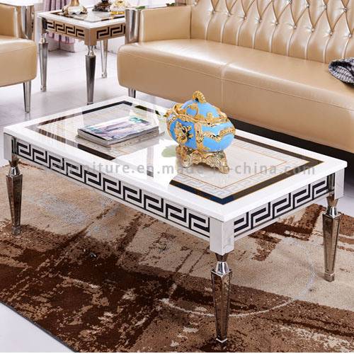Marble Top Metal Base Coffee Table Home Furniture