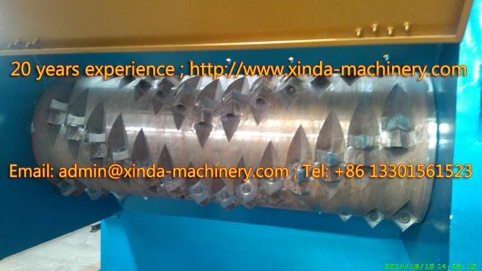 Single Shaft Plastic Shredder Machinery