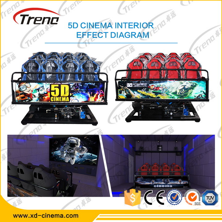 Electric 6dof Motion Platform Simulator 9d 7D 5D Cinema Equipment