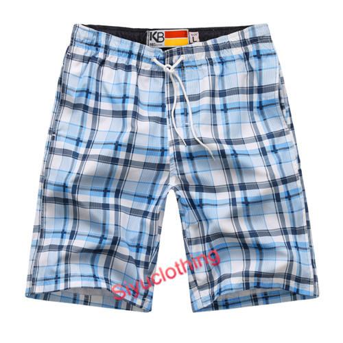 Colorful EU Beach Swimwear Check Summer Wear Shorts (S-1524)