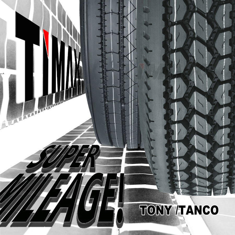 180000 Miles 11r24.5, 285/75r24.5 Timax Commercial Semi Truck Tires with DOT, Smartway
