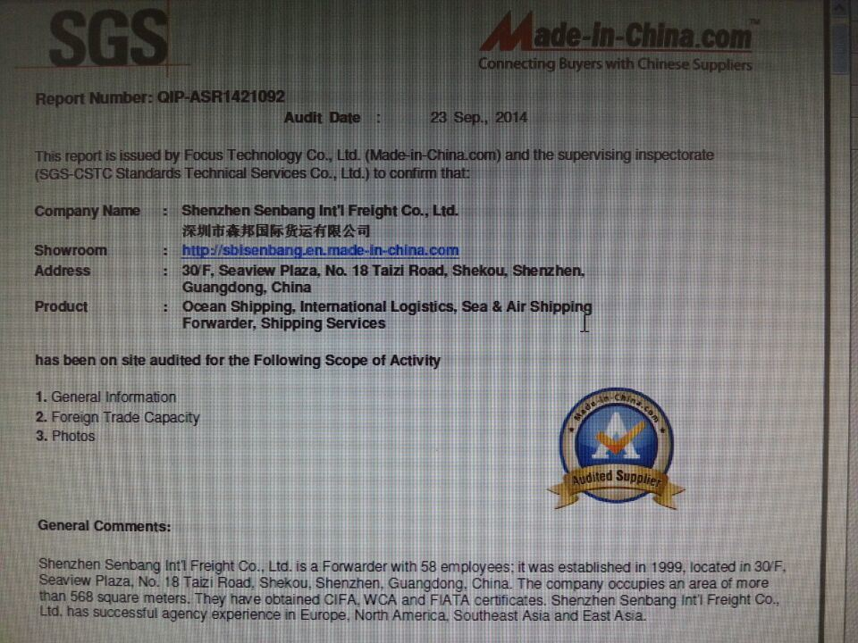 USD900/20gp Cheaper Shipping Freight From Shenzhen to Cartagena