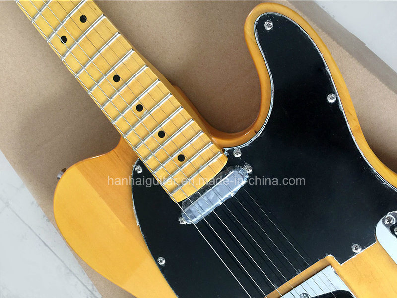Hanhai Music / Sale Price Yellow Tele Style Electric Guitar