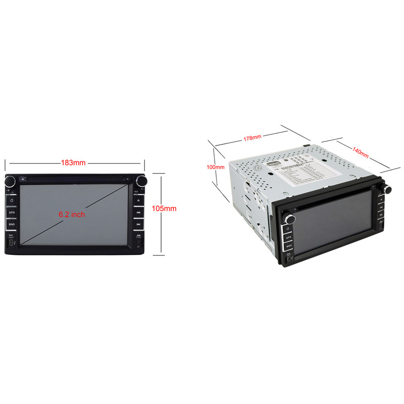 6.2inch Double DIN 2DIN Car DVD Player with Wince System Ts-2018-2