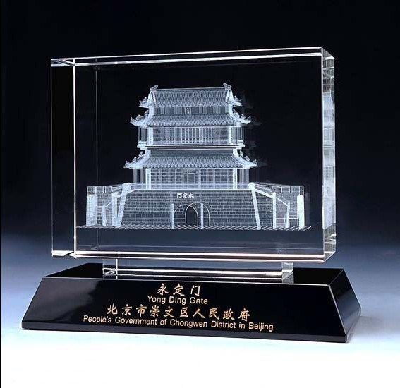 High-Grade 3D Image Crystal K9 Glass Building Model