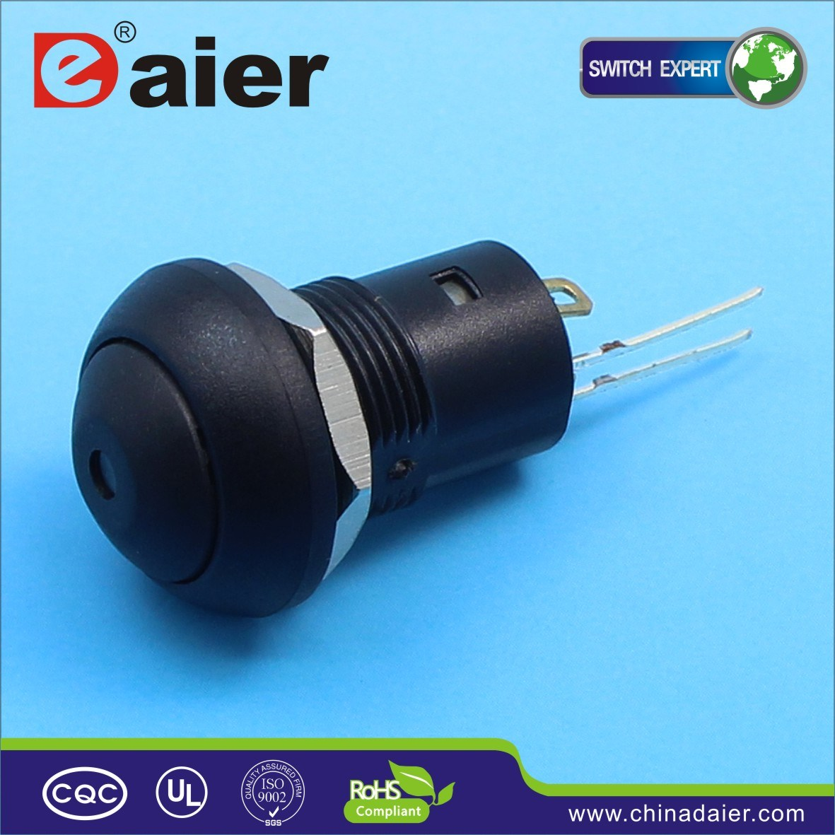 12mm 4pin Waterproof LED Push Button Switch (DS-12B-DL)