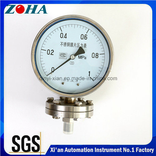 All Ss Diaphragm-Seal Homogenizer Pressure Gauges
