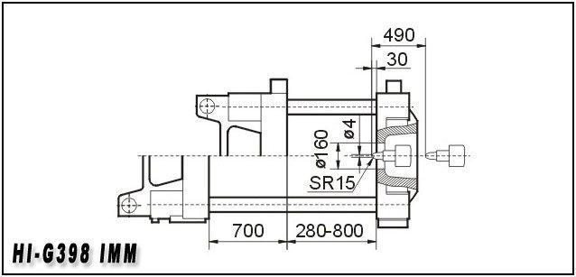 398t Plastic Injection Molding Machine Hi-G398