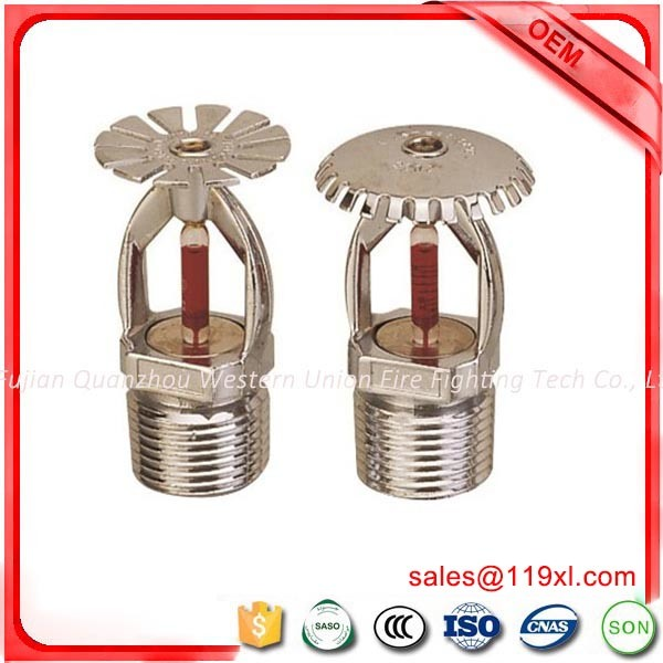 Upright/Pendent Copper Alloy Glass Bulb Fire Sprinkler