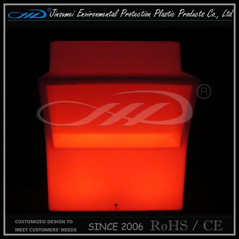Commercial Illuminated LED Bar Counter Design / LED Hotel Furniture