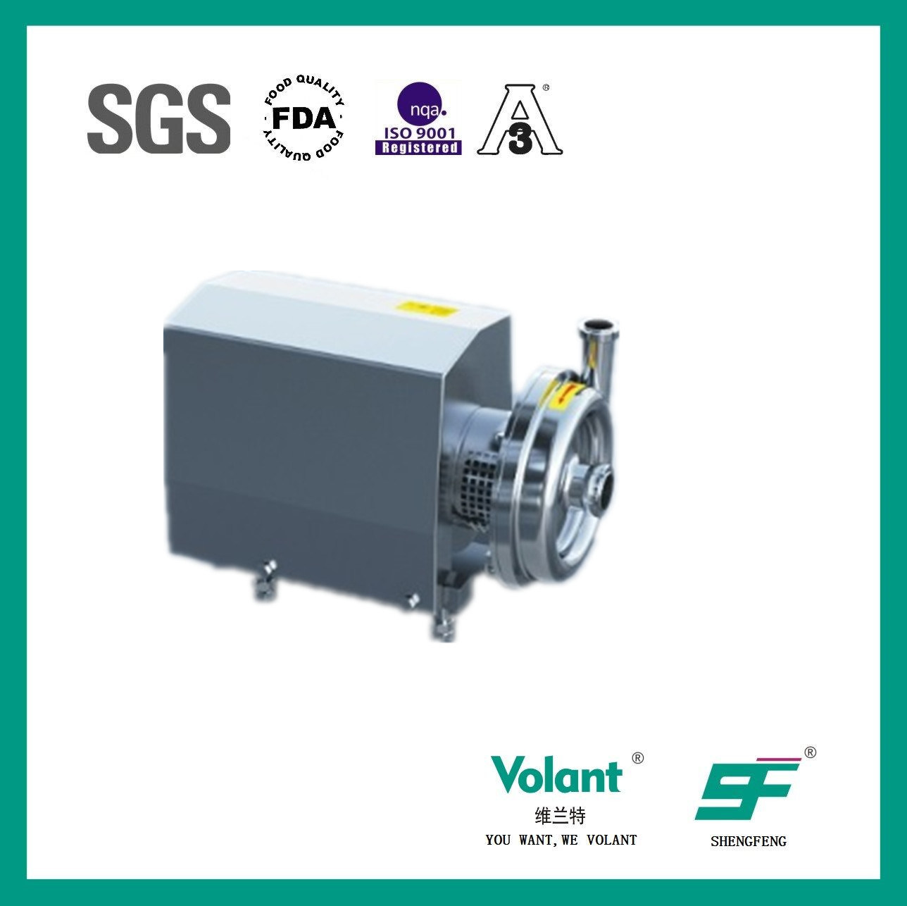 Stainless Steel Sanitary Centrifugal Water Pump
