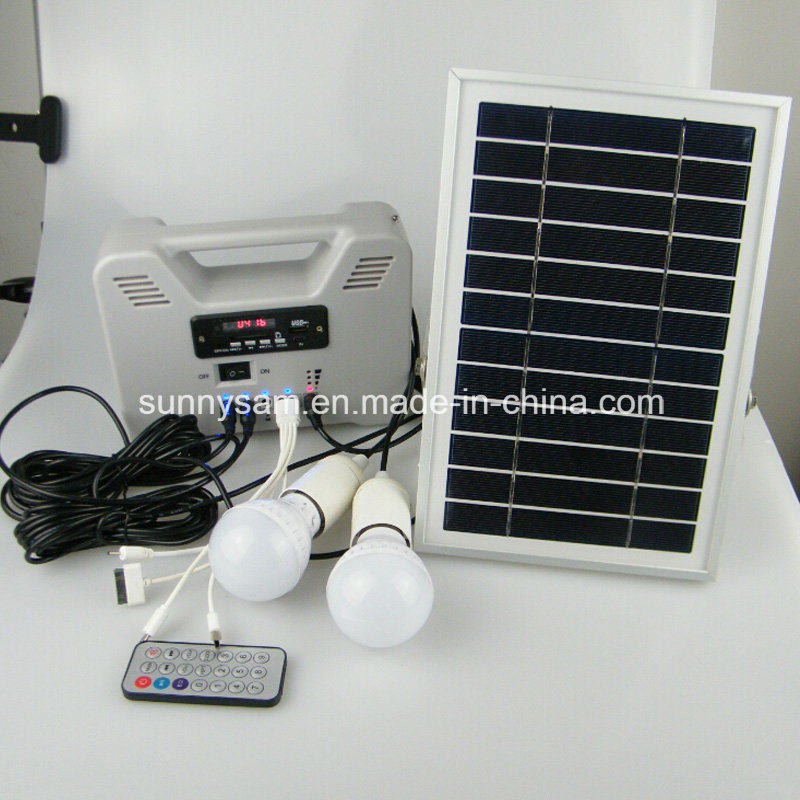 Smart Portable Solar Power System for Indoor Home Emergency Use