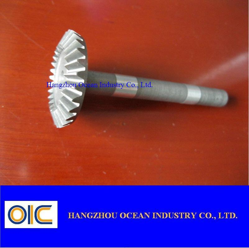 Steel Bevel Pinion Gear Shaft