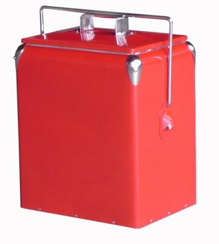 Retro Cooler Box for Outdoor