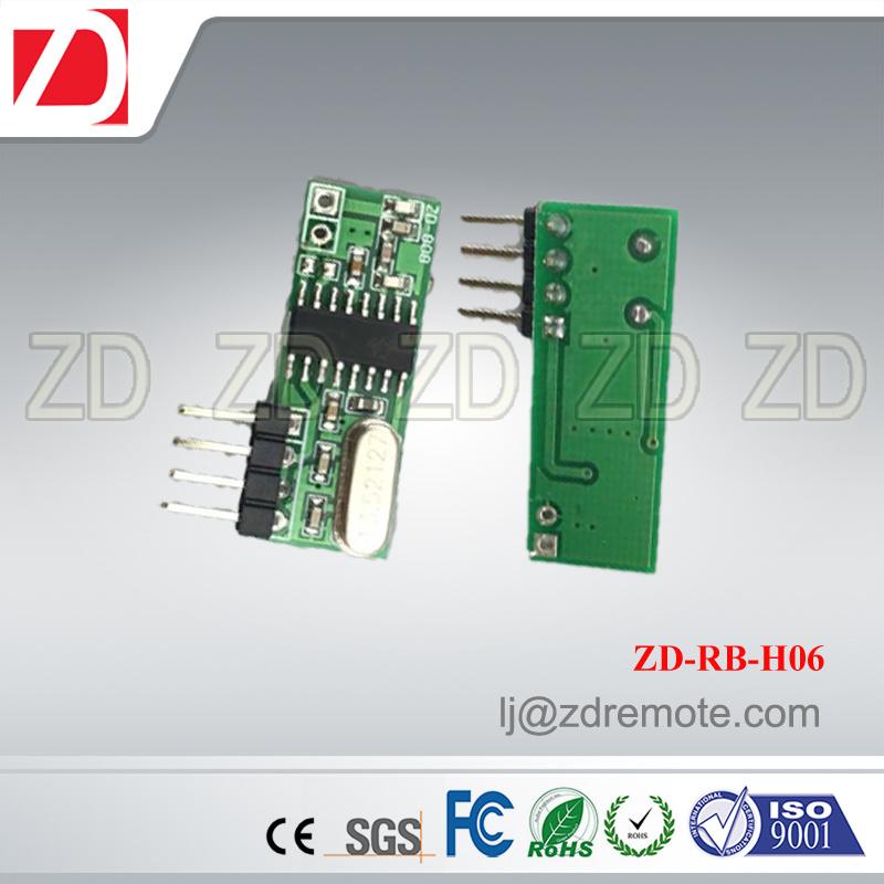Best Price Superheterodyne 433MHz RF Receiver Module for Motorcar Alarm System Zd-Rb-H03