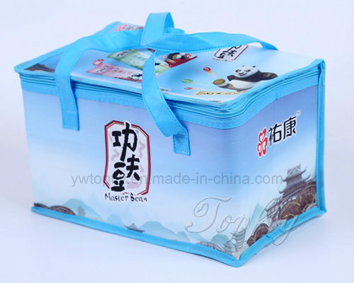 Outdoor Nonwoven Laminated Insulated Lunch Cooler Food Gift Tote Bag
