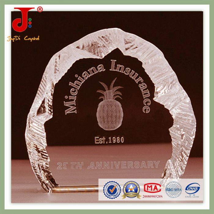 Glass Plate Blank Crystal Block Photo Frame (JD-CB-302)