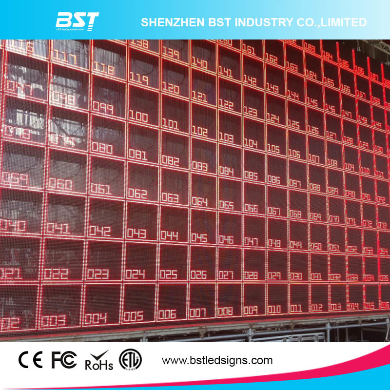 Hot Sell P10mm High Transparent Indoor Full Color LED Mesh/Curtain Screen