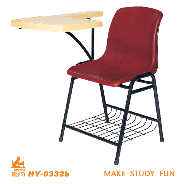 Plastic Auditorium Chair Writing Tablet