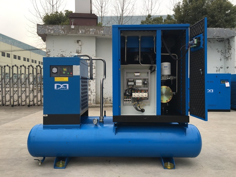 11kw 15kw Industrial Electric Rotary Screw Air Compressor with Air Dryer
